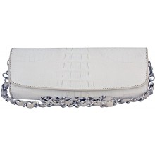 Genuine crocodile leather clutch bag CBM20T White