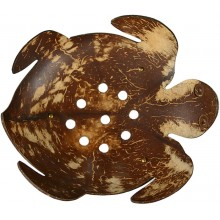 Coconut shell hand carved soap dish CCNSOAP001