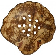 Coconut shell hand carved soap dish CCNSOAP002
