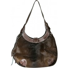 Genuine cow with hair on leather bag CHA002 Brown