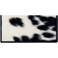 Genuine cow with hair on leather wallet CHAWAL011 Black / White