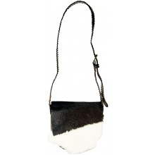Genuine cow leather with hair on bag CHHL898 Brown / White