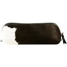 Genuine cow leather with hair on makeup bag CHMAKEUP10 Black / Brown / White