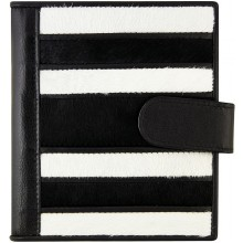 Genuine cow leather with hair on wallet CHW02 Black / Brown / White