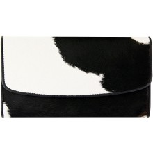 Genuine cow leather with hair on wallet CHW05 Black / Brown / White