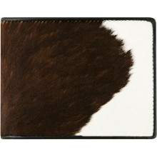 Genuine cow leather with hair on wallet CHW33 Black / Brown / White