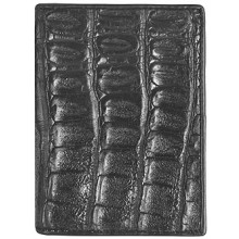 Genuine alligator leather card holder CM01 Black