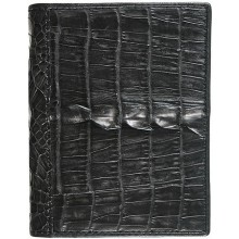Genuine alligator leather card holder CM01T Black