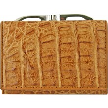 Genuine alligator leather wallet CMC872 Peanut