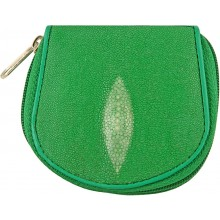 Genuine stingray leather coin wallet CP04A Green