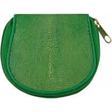Genuine stingray leather coin wallet CP04A-SA Green