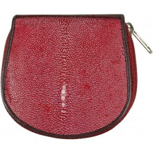Genuine stingray leather coin wallet CP04A-SA Violet