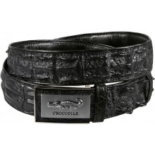 Genuine crocodile leather belt CRBD1-5 Black