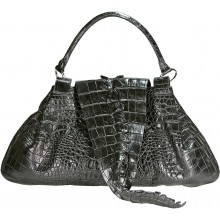 Genuine crocodile leather bag CRBT1802 Black