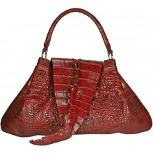 Genuine crocodile leather bag CRBT1802 Burgundy