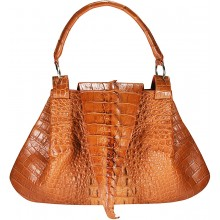 Genuine crocodile leather bag CRBT1802 Tan