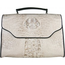 Genuine crocodile leather bag CRBT434 White