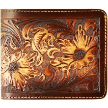 Genuine cow leather wallet CVWALLET01 Brown