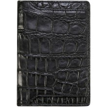 Genuine crocodile leather card holder CW0202 Black