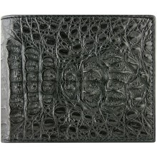Genuine alligator leather wallet CW101-03 Black