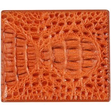 Genuine alligator leather wallet CW101 Tan