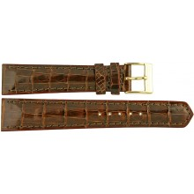 Genuine crocodile leather watch band CWB002 Brown