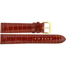 Genuine crocodile leather watch band CWB002 Cognac