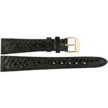 Genuine crocodile leather watch band CWB003 Black