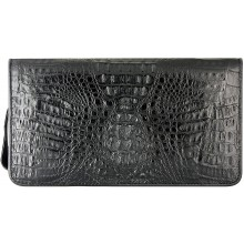 Genuine alligator leather wallet CZ001 Black
