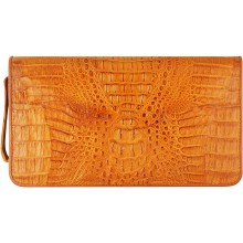 Genuine alligator leather wallet CZ001 Tan