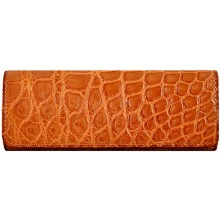 Genuine crocodile leather glasses / spectacles case GB01001 Safari