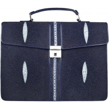 Genuine stingray leather briefcase DC08-1 Blue