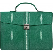 Genuine stingray leather briefcase DC08-1 Green
