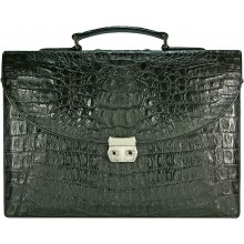 Genuine alligator leather briefcase DCM39-S Black