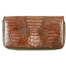 Genuine alligator leather wallet SEALW002HB Brown