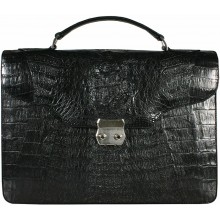 Genuine alligator leather briefcase DM1527-S Black