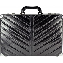 Genuine eel leather attache case EEL-ATC01 Black