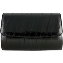 Genuine eel leather bag EEL-BEVE50 Black