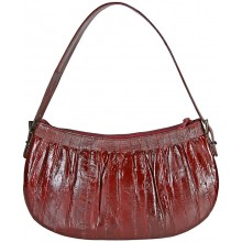 Genuine eel leather bag EEL-BMW20 Burgundy
