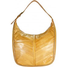Genuine eel leather bag EEL-BSUK42 Beige