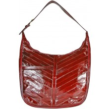 Genuine eel leather bag EEL-BSUK42 Burgundy