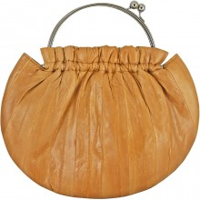 Genuine eel leather bag EEL-CS21 Beige