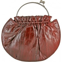 Genuine eel leather bag EEL-CS21 Burgundy