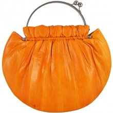 Genuine eel leather bag EEL-CS21 Orange