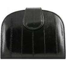 Genuine eel leather wallet EEL-HMP1 Black