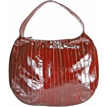 Genuine eel leather bag EEL-MANGTE Burgundy