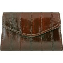 Genuine eel leather coin purse EEL-PC10 Brown