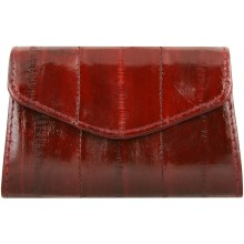 Genuine eel leather coin purse EEL-PC10 Burgundy