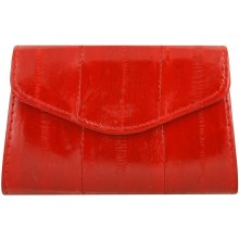 Genuine eel leather coin purse EEL-PC10 Red