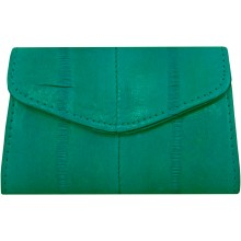 Genuine eel leather coin purse EEL-PC10 Turquoise